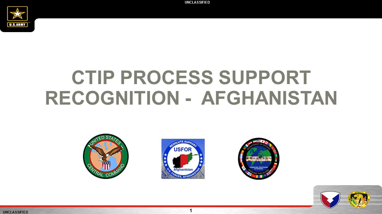 U.S. Forces Afghanistan CTIP Process Support Award