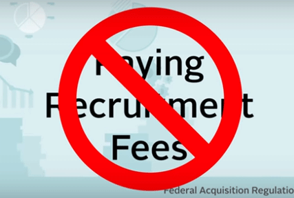 Federal Acquisition Regulation regarding recruitment fees